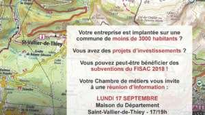 Information Chambre des Métiers : Dispositif FISAC