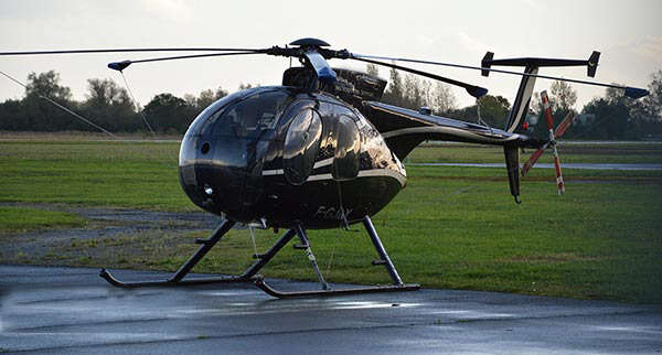 Inspection du réseau électrique en hélicoptère